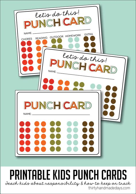 punches card behavior punch cards images