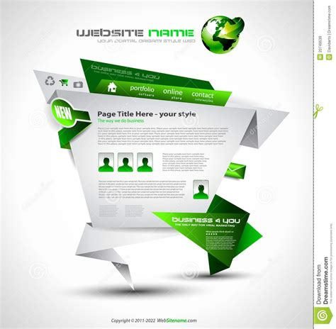origami websites for origami website design royalty free stock images
