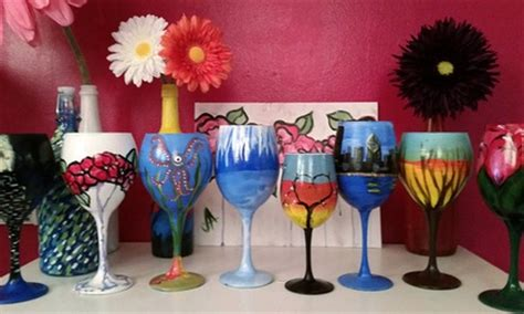 paint nite groupon chicago byob wine glass painting class vip paints groupon