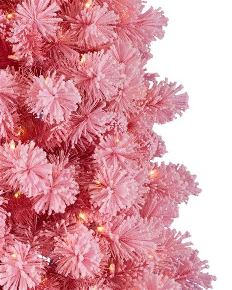 pink flocked tree treetopia