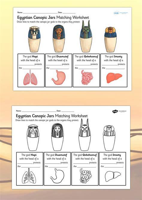 to make ks2 ks2 ancient canopic jars organs worksheet
