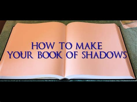 how to make picture book how to make a book of shadows part 1