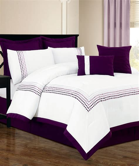 purple and white comforter sets duck river textile white purple klyne comforter set zulily