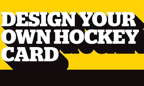 make your own hockey card design your own hockey card submissions