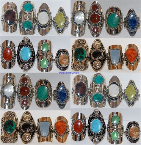stones for jewelry 5 rings big bold peru jewelry wholesale nr ebay
