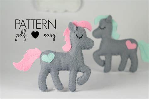 pony patterns felt pattern sewing pattern felt pattern