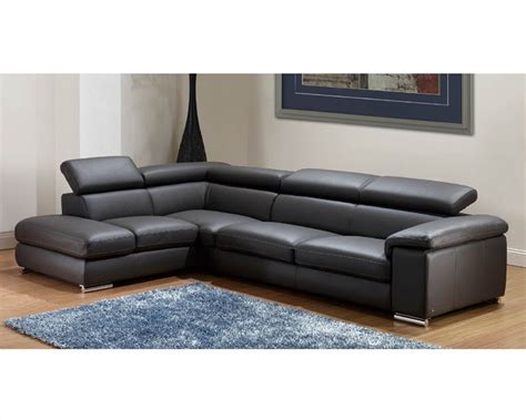 sectional sofas modern modern leather sectional sofa set in grey finish 33ls131