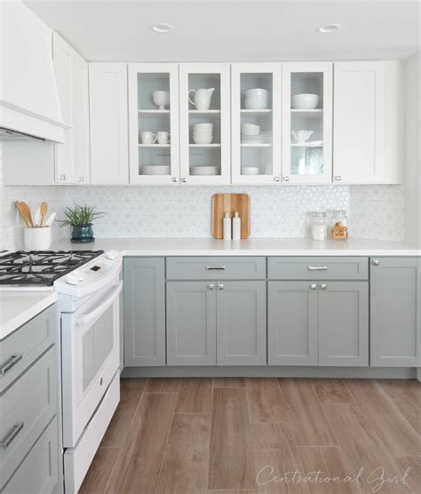 gray and white kitchen kitchen remodel centsational style