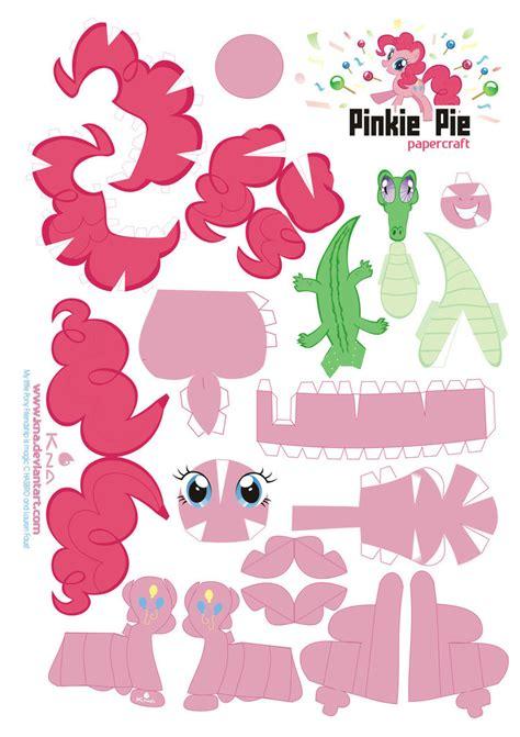 my pony paper crafts pinkie pie papercraft by kna on deviantart