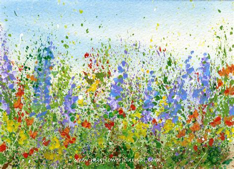 how to create a flower garden create a splattered paint flower garden my flower journal