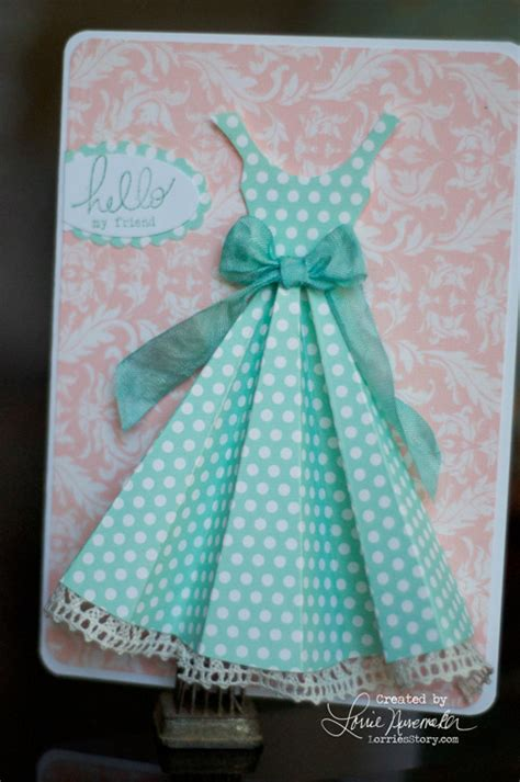 how to make a card dress lorrie s story dress card inspired by