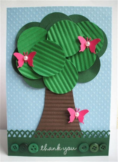 cardstock paper craft ideas make a card using cardstock crimper and punches think