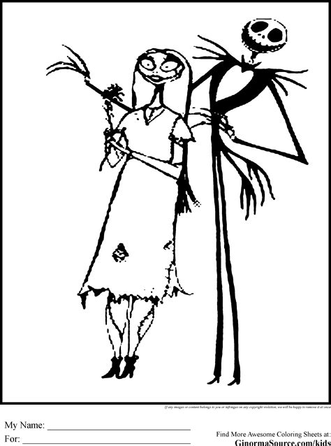 tim burton s the nightmare before coloring book for everybody nightmare before coloring pages printable