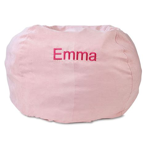 Pink Bean Bag Chair by Pink Personalized Bean Bag Chair Lillian Vernon
