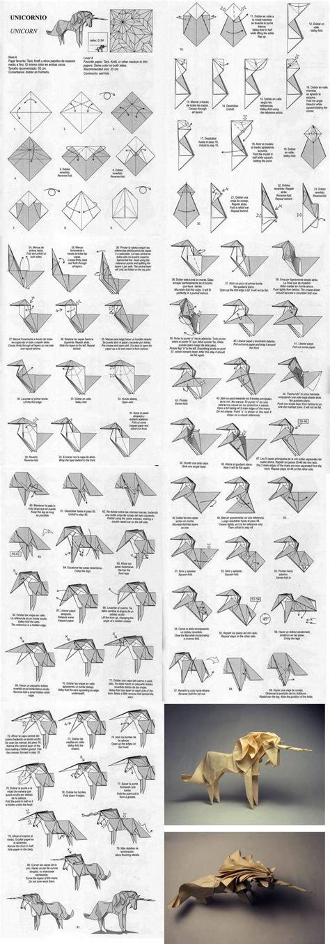 how to make an origami unicorn tutorial for unicorn origami origami