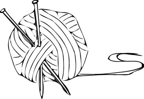 knitting drawing knitting yarn needles 1 clip at clker vector