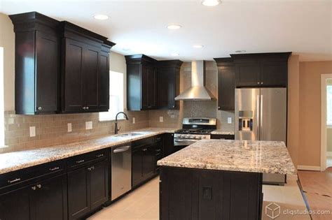 kitchens with black cabinets black kitchen cabinets traditional kitchen houston