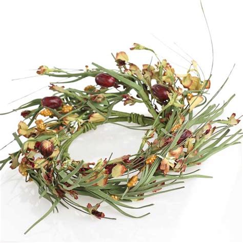 candle ring 4 1 2 quot artificial gooseberry floral candle ring new items