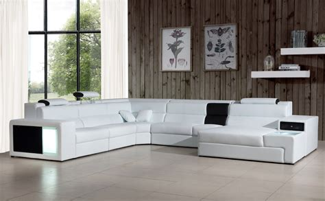 contemporary leather sectional sofa divani casa polaris contemporary bonded leather