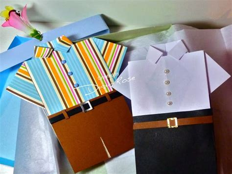 origami shirt box s day origami folded shirt cards in a shirt box by