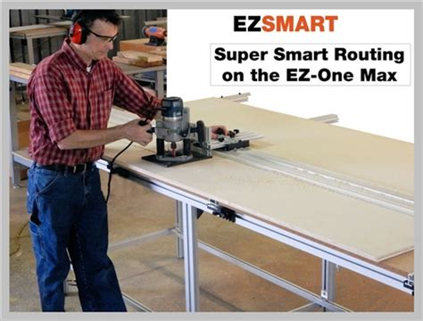 ez one woodworking center circular saw guide rail wooden cls wood cls panel