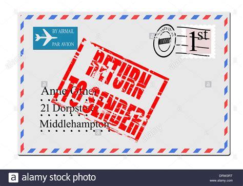 addressee unknown return to sender rubber st digital composition concept airmail envelope return to