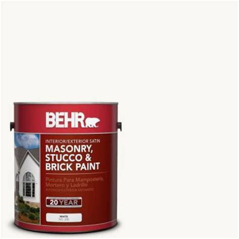 home depot stucco paint colors behr premium 1 gal ms 31 white satin interior exterior