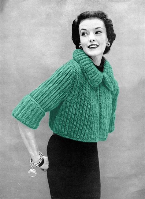 knitting patterns sweaters musings from marilyn 187 fab 50s vintage bolero sweater