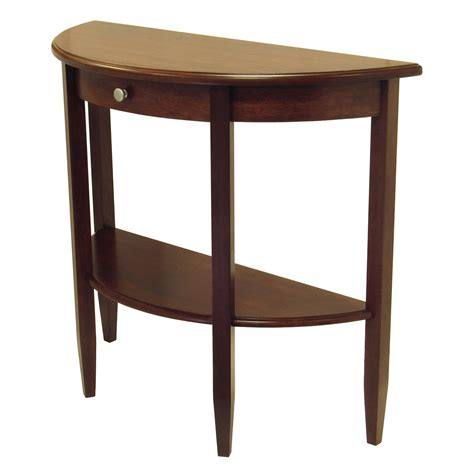 half moon sofa tables winsome concord console table half moon with