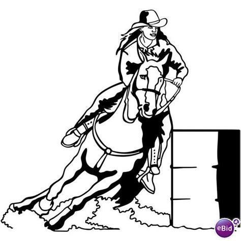 barrel racing decal 04 western rodeo window sticker on