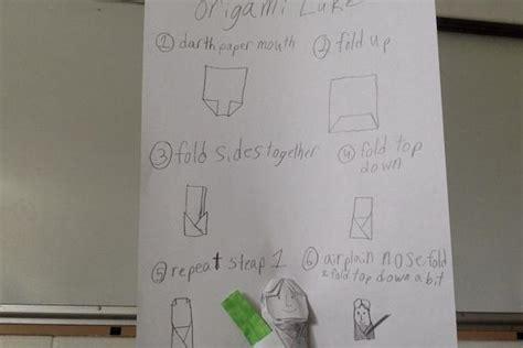 how to fold origami anakin skywalker origami luke with origami yoda