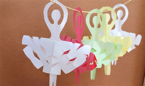 paper craft ideas for to make easy paper craft how to make snowflake ballerinas