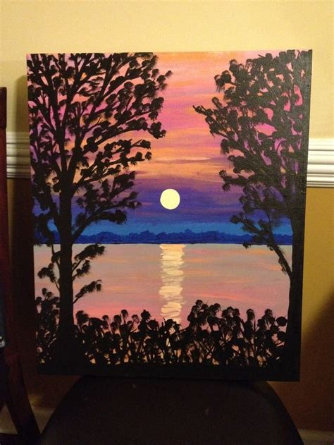 acrylic painting subject ideas canvas paintings sunsets and canvases on