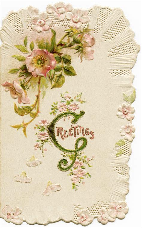 how to make vintage cards free vintage image pink floral card