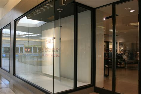 store front glass doors mall storefront windows allservices frameless glass company