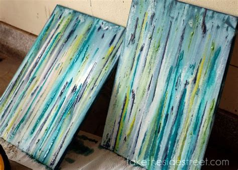 how to drip acrylic paint on canvas take the side diy drip painting my general deco