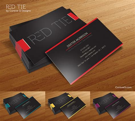 how to make business cards free free business card template tie by cursiveq designs