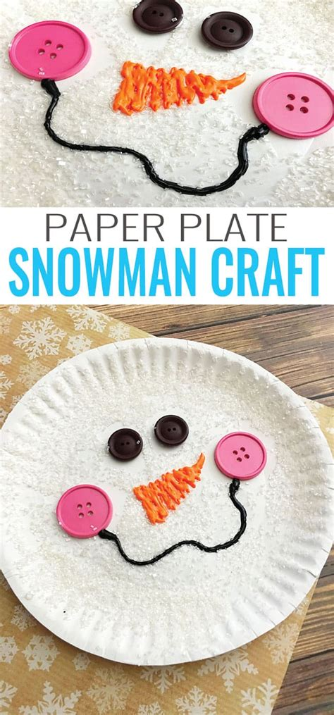 paper craft paper paper plate snowman craft winter crafts for easy