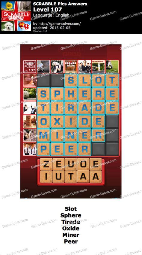 scrabble answers generator scrabble pics level 107 solver