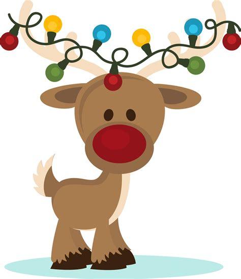 reindeer with lights deer clipart clipartsgram
