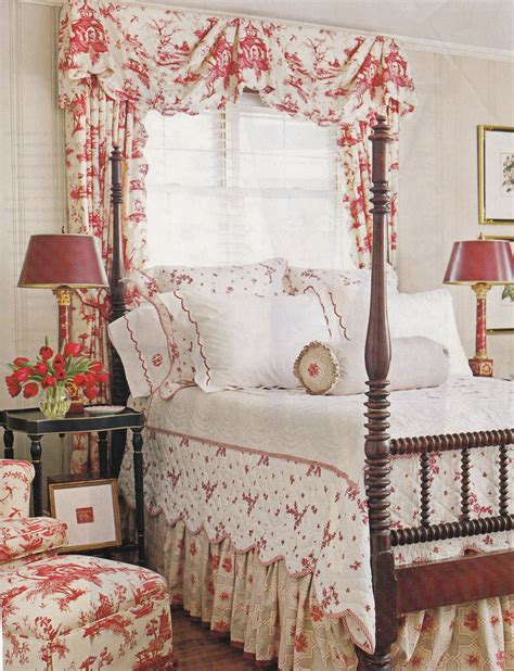 toile bedroom cottage toile bedroom country