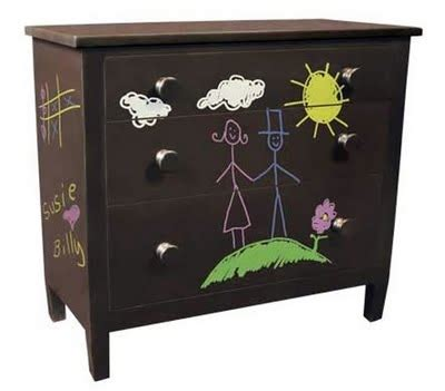 chalk paint on canvas dresser makeovers on