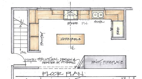 kitchen house plans a floor plan is the most important factor in a remodel