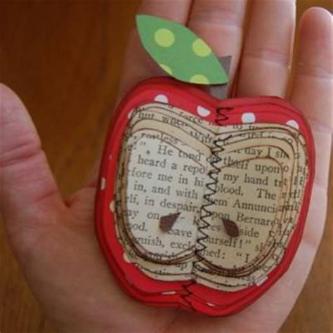 book paper crafts make an apple out of book paper craft idea tip junkie