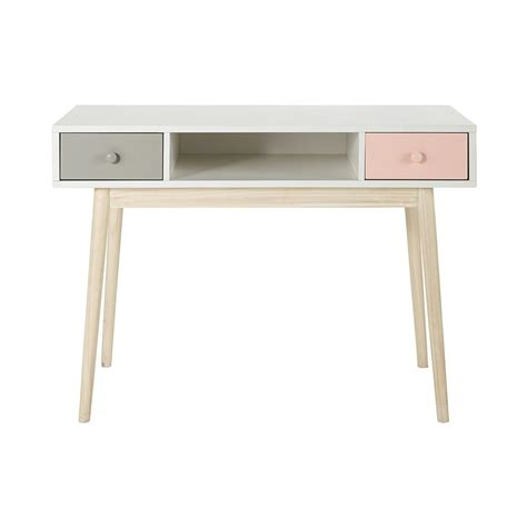 vintage white desks vintage desk in white blush maisons du monde