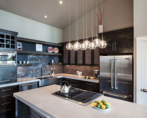 contemporary kitchen light fixtures kitchen island lighting modern home in eugene oregon by