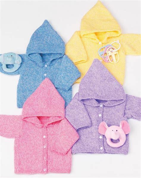 simple baby knits simple baby hoodies allfreeknitting