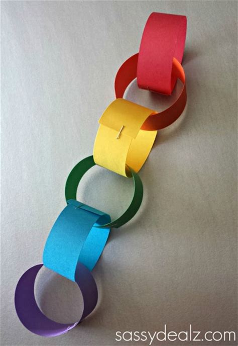paper chain craft rainbow chain craft for st s day crafty morning