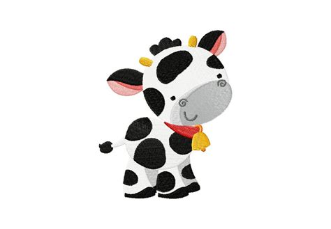 cow design farm cow machine embroidery design for gold members only