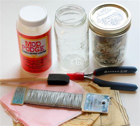 materials needed for decoupage decoupage jar vase lantern tutorial emerging creatively